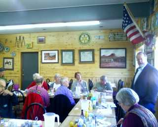 Senator Whitehead speaks to LWVMZC